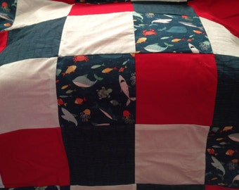 Patchwork Baby Quilt Blanket (hand made)