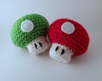 Crochet Super Mario Mushroom 1 up