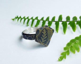 Tiny Woodland Fern Ring
