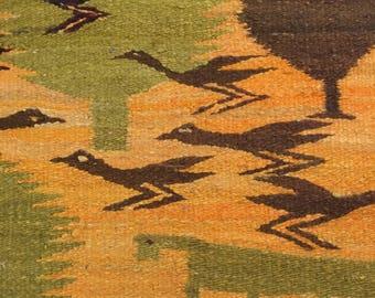 Scandinavian Wool Rug   Mid Century Modern