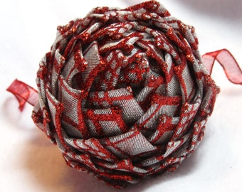 Red and Silver Collectiable keepsake ornaments, Christmas Ornament