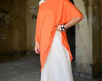 Maxi Dress, Long Dress, Off Shoulder Dress, Casual Kaftan, Daywear Dress, White Kaftan Dress, Linen Kaftan, Extravagant Dress - DR0286CK