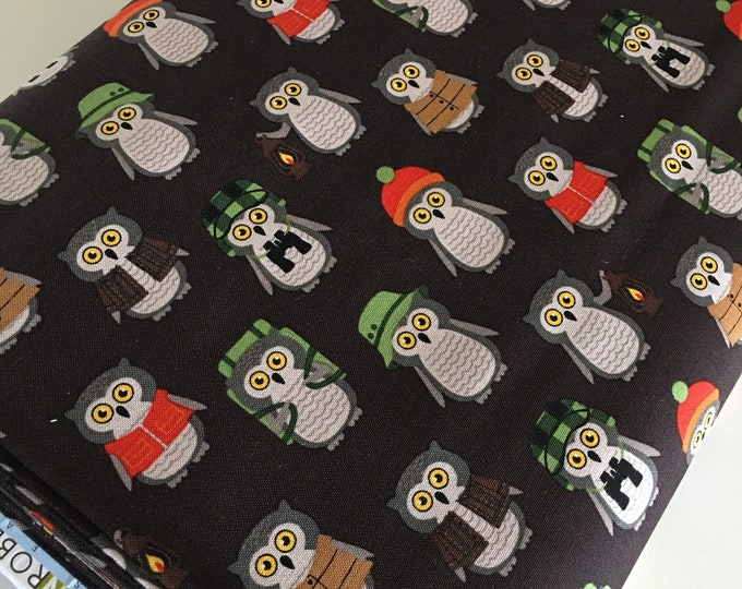 Cotton Fabric by the Yard, Quilting Fabric, Campsite Critters, Fox Fabric, Camping Outdoors, Explore, Gift for Baby, Quilt, Choose the cut