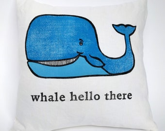 Whale Hello There Cushion Cover