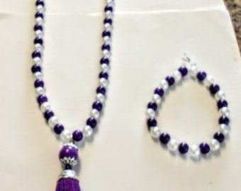 Purple Tassel Necklace ONLY
