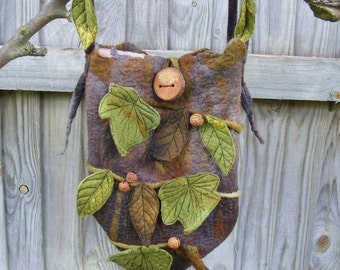 Enchanted Elf Magical Hand Felted Bag