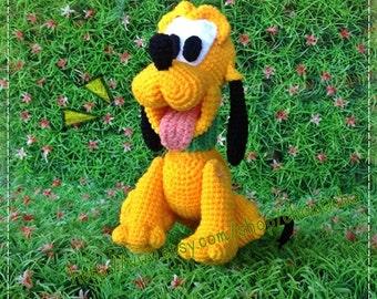 Pluto Dog 8inches - PDF amigurumi crochet pattern