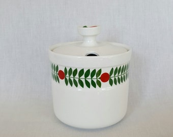 Beautiful large jam pot delikatess by Karin Björgvist for Gustavsberg Sweden vintage 1960 - 1970
