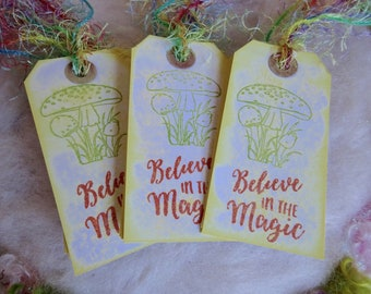 Frog Prince Gift Tags, Set of 10 Frog Fairy Princess Party Favor Gift Tags Bookmark Thank You Favor Bag