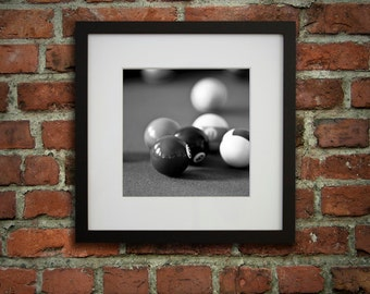 GET 20% OFF TODAY! 12x12 Framed art, Billiard decor, Pool room décor, Gifts for dad, Game room wall art, Ready to hang art / Billiard balls