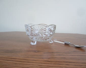 British  Pressed Glass Relish/Candy Dish