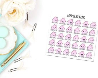 Kawaii House Payment Planner Stickers