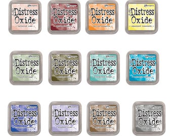 """Tim Holtz Ranger Distress Oxide Ink Pads 2018 Release """"I Want it All Bundle #3"""" includes all 12 Colors """"BRAND NEW"""""""