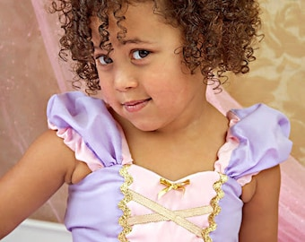 Rapunzel dress, lavender dress, RAPUNZEL costume dress  princess dress for girls, sizes 7/8 and 8/10