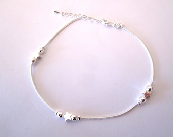 chain anklet Silver Star