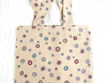 tote bag / beige tote bag, foldable shopping bag