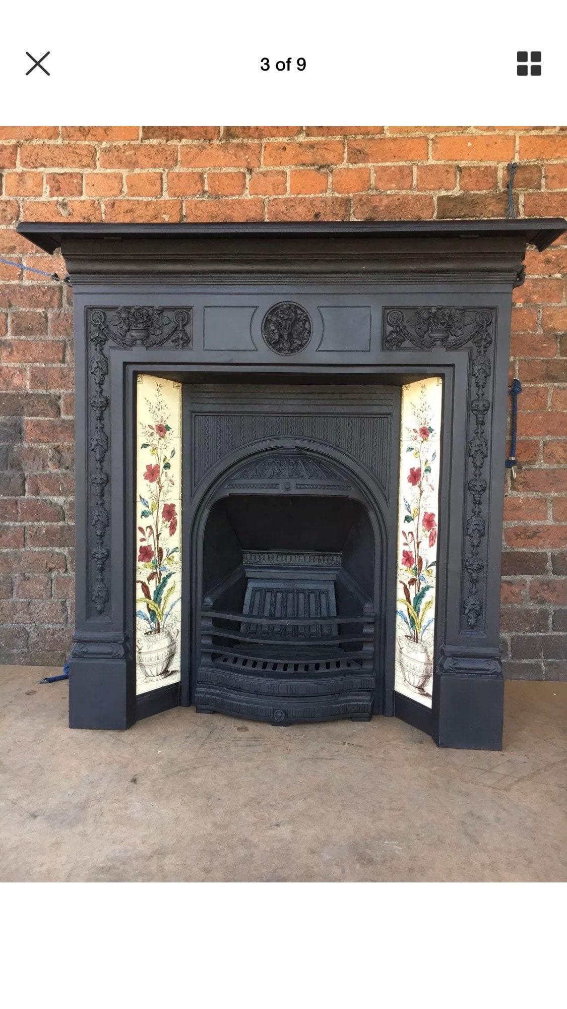 Image of Refurbished cast iron fireplace cast iron fire