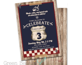 JUNKYARD TOW TRUCK Printable Party Invitation - Printing Available