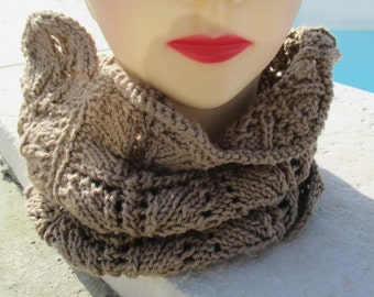 closed in beige wool scarf in beige, mothers day gift
