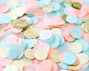 Peach Mint & Gold Confetti Mix