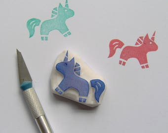 Baby unicorn rubber stamp, unicorn stamp, horse stamp, animal stamp, fairytale birthday, baby shower gift wraps, scrapbooking, cardmaking