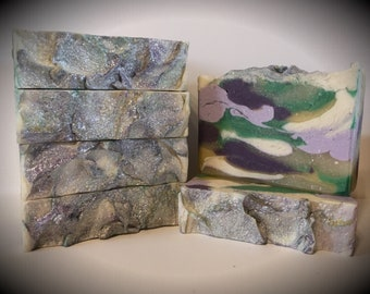 Lilac in Bloom scented soap, handmade soap, artisan soap, cold processed soap
