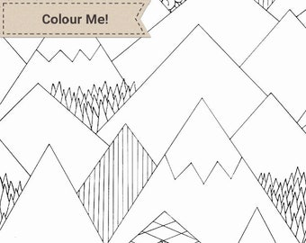 Mountain Madness Colouring Page