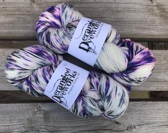 Guns 'N' Violets - Hand Dyed Yarn - SW Merino Wool/Nylon (80/20) Fingering/Sock Weight