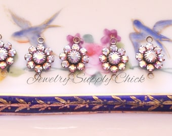 Crystal AB Swarovski Crystal Flower setting (x6+)