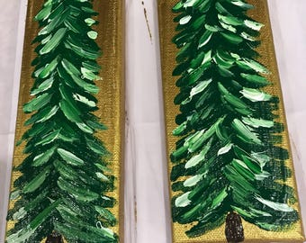 3x9 Christmas Tree with Gold