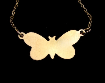 This is Awkward Butterfly Necklace