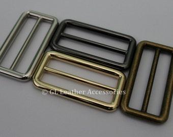 2 x Heavy Duty 51.5mm Metal Tri Glide Slide Buckles 4 Colors