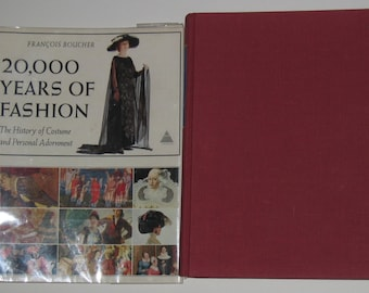 20,000 Years of Fashion by Francois Boucher 1st Ed The History of Costume and Personal Adornment Vtg Book