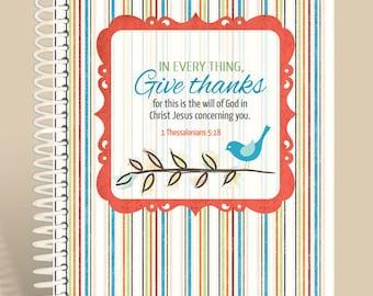 Prayer Notebook - Little Birdie Spring Edition - 1 Thessalonians 5:18/