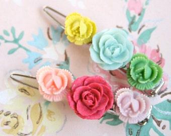 Flower Barrette, Hair barrette, Barrette, Barrette hair clip, Hair barrette girl, Hair clip barrette, rustic hair barrette, Flower Girl Gift