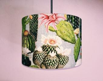 Cactus Lampshade - Handmade Cacti Succulents Tropical Drum Lamp shade 20cm 30cm 40cm