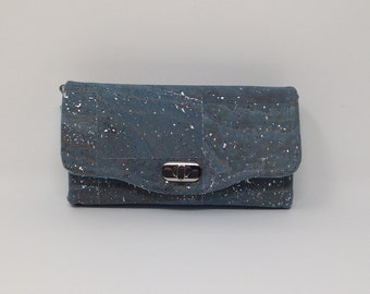 Cork Necessary Clutch Wallet in Teal