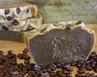 Handmade Coffee Soap, all natural, vegan, palm free, handcrafted