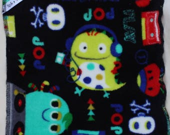 """Rub a Dubby """"Monster Jam"""" baby mealtime washcloth 3 pack"""