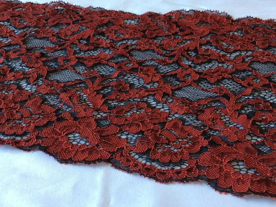 Black and red lace from a well known French manufacturer