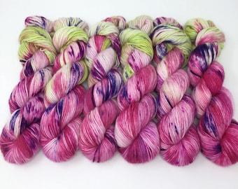 Hand Dyed Yarn - Alpaca/Merino/Silk -  DK - Lady Slipper