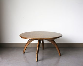 Sold *** Vintage Heywood Wakefield Lazy Susan Coffee Table