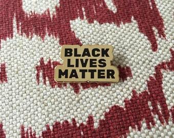 Black Lives Matter Lapel Pin - GOLD