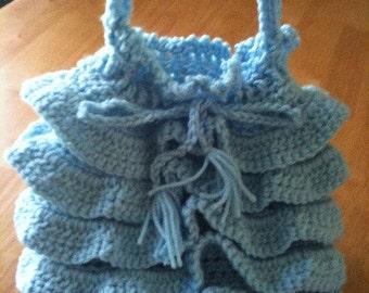 Round, Ruffly, Original Design Crochet Bag