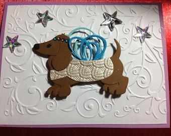 Dachshund Fairy Card