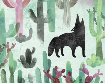 Arizona Coyote // A6 blank greeting card