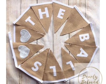Personalised Wedding Bunting, Family Name Bunting, Surname Bunting, Wedding Decor, Rustic Wedding, Wedding Banner