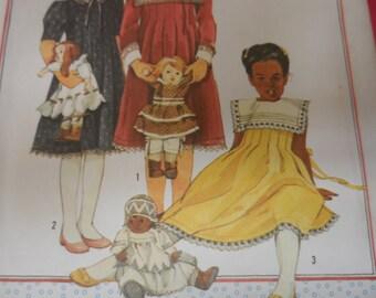 Simplicity 6657 Girl's Dress Pattern Size 8 Cinderella Pattern Classic Dress