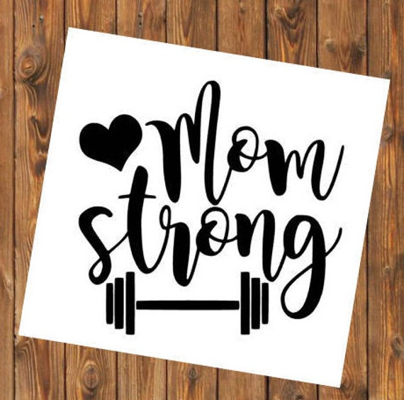 Free Shipping-Mom Strong Barbell Parenthood, Yeti Rambler Decal, Yeti Cooler, Laptop Sticker,She Believed Quote,Weight Loss, 21 Day Fix