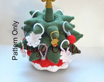 Crochet Pattern, Christmas Tree Stacking Rings